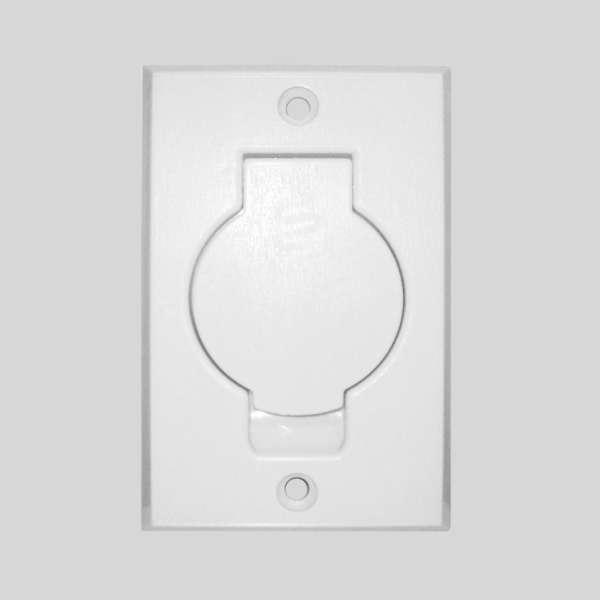 White Round Door Inlet Valve
