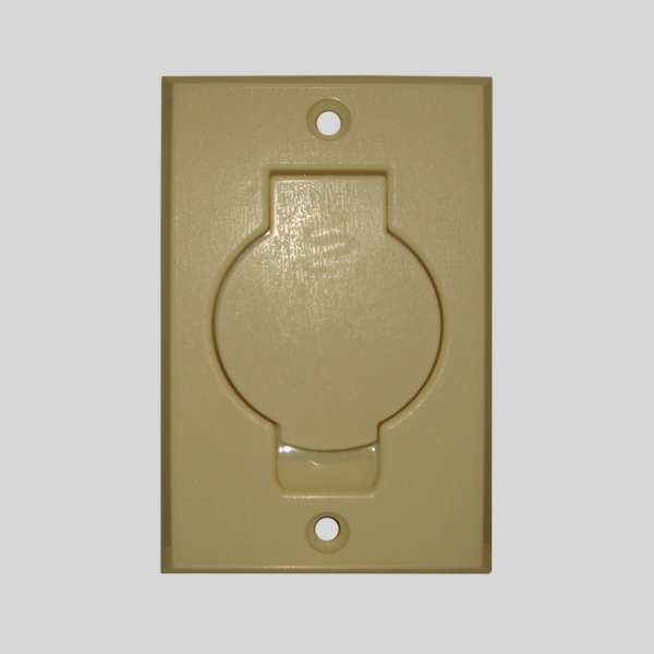 Ivory Round Door Inlet Valve