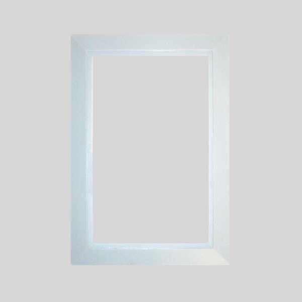 White Round Door Plate
