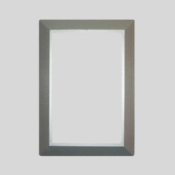 Silver Round Door Plate