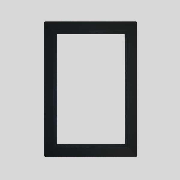 Black Round Door Plate