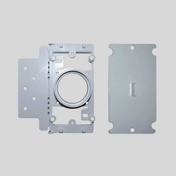 Round Door Rectangular Mounting Plate