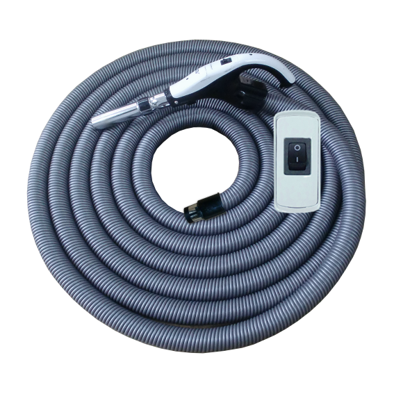 On/Off Hose with STD Cuff and Button Switch Handle - 9 m