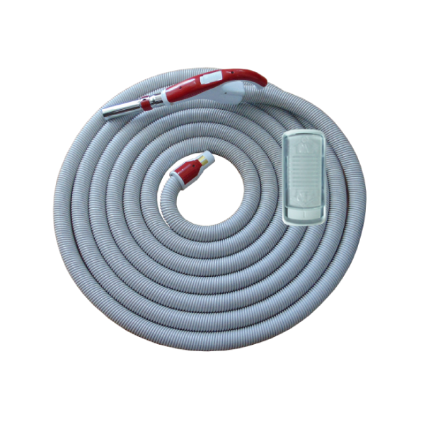 On/Off Hose with Swivel Cuff and Slide Switch Handle VERM - 8m