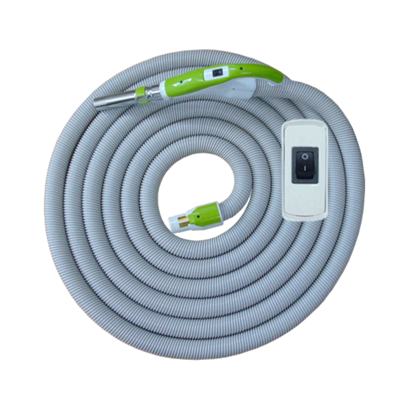 On/Off Hose with Swivel Cuff and Button Switch Handle Green - 12m