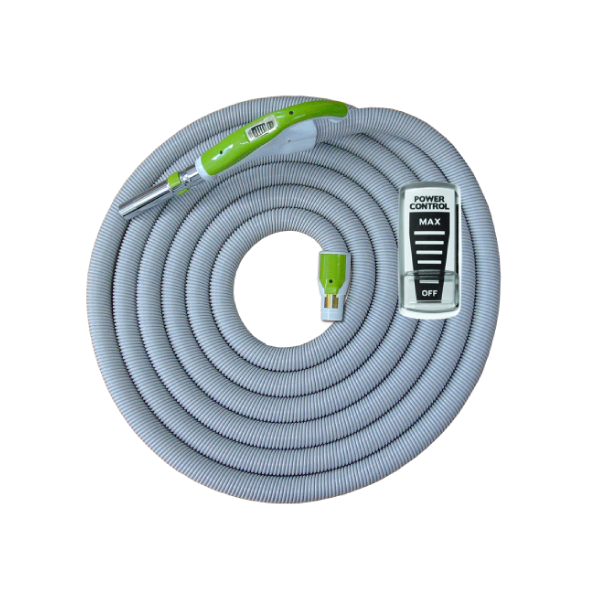 On/Off Hose with Swivel Cuff and Power Control Switch Handle Green - 12 m