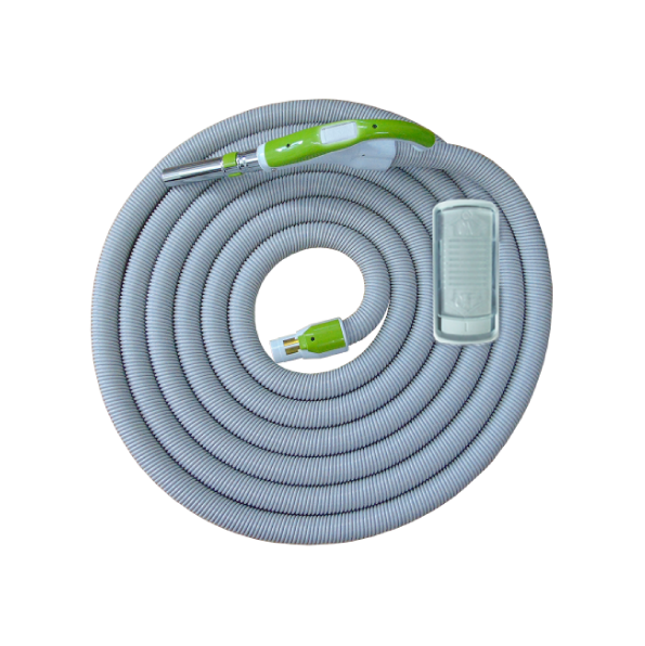 On/Off Hose with Swivel Cuff and Slide Switch Handle Green - 12 m