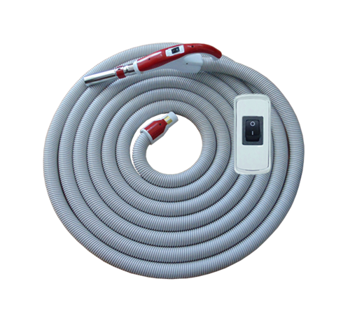 On/Off Hose with Swivel Cuff and Button Switch Handle Red - 10 m