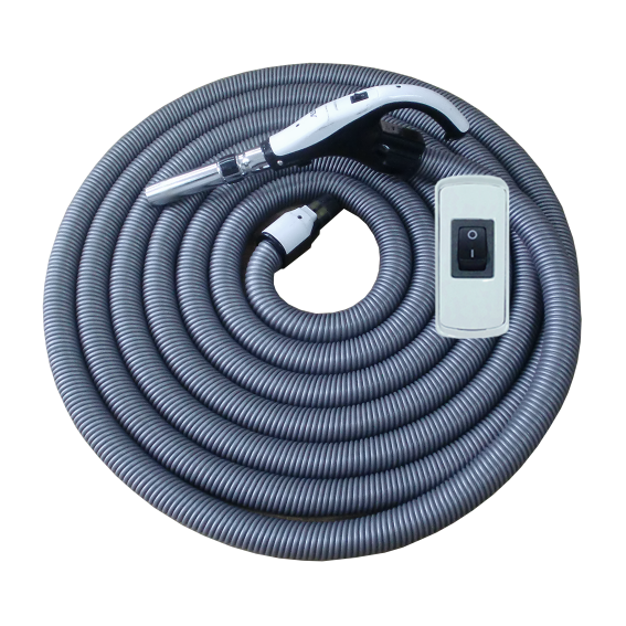 On/Off Hose with Swivel Cuff and Button Switch Handle - 8 m
