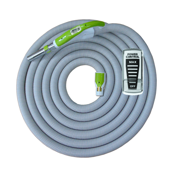 On/Off Hose with Swivel Cuff and Power Control Switch Handle Green - 9 m