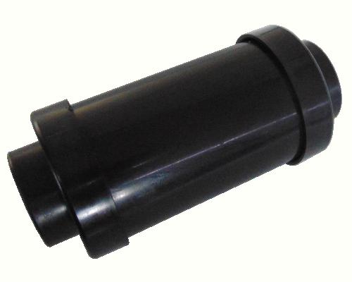 Round Muffler Small - Black