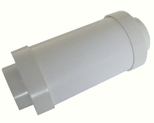 Round Muffler Small - White